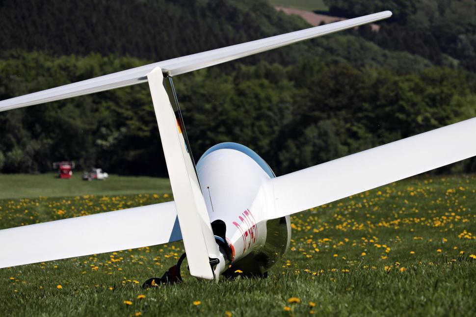 Download Free Stock Photo of Glider in the meadow