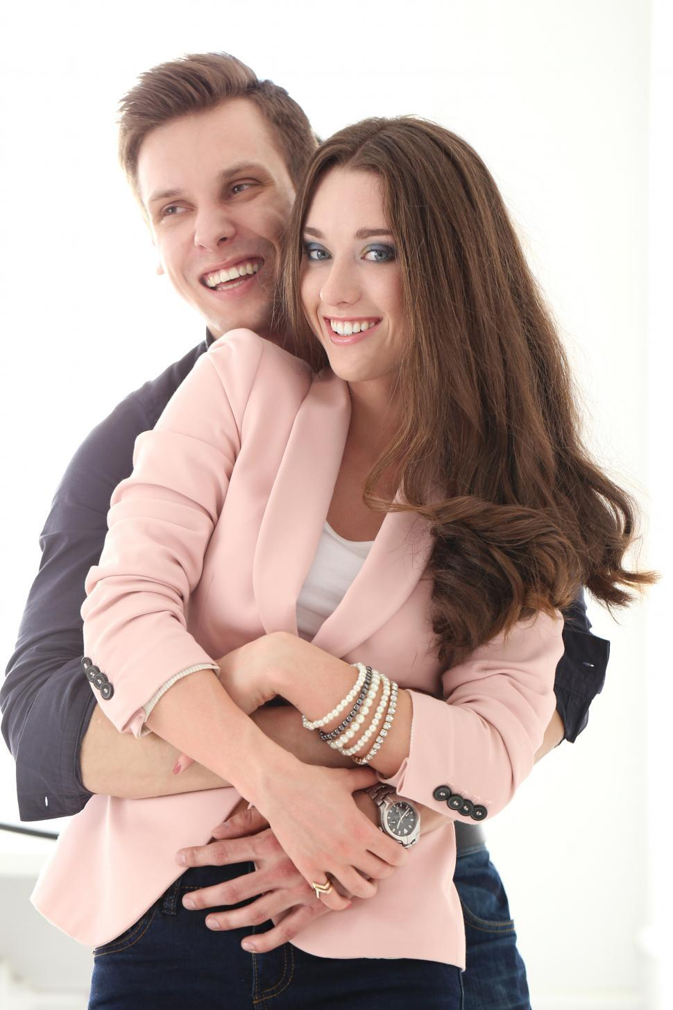 Download Free Stock Photo of Beautiful couple, happy together