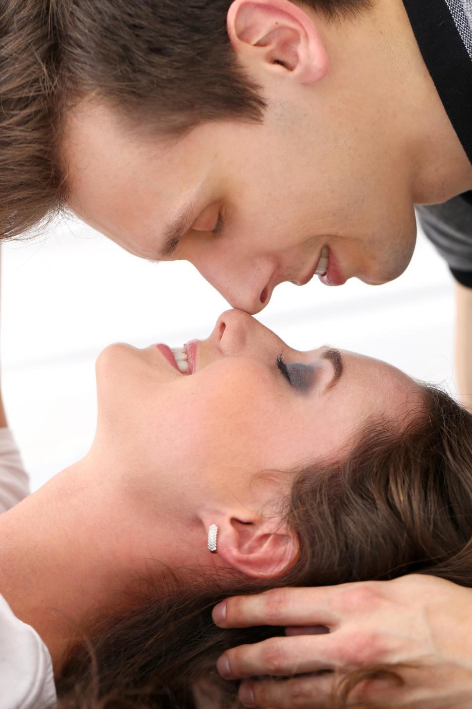 Download Free Stock Photo of Nose to nose happy couple
