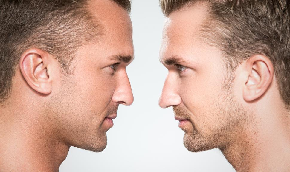 Download Free Stock HD Photo of Two handsome guys face off Online