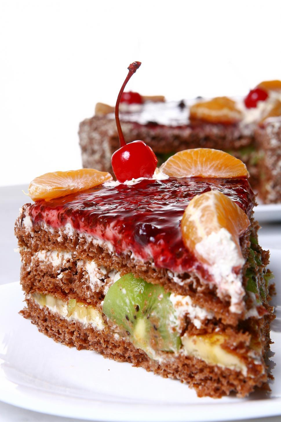 Download Free Stock HD Photo of cake with desert cherry Online