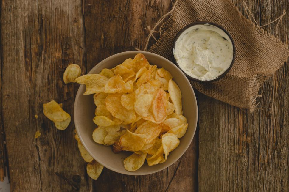 Download Free Stock HD Photo of Potato chips on the table Online