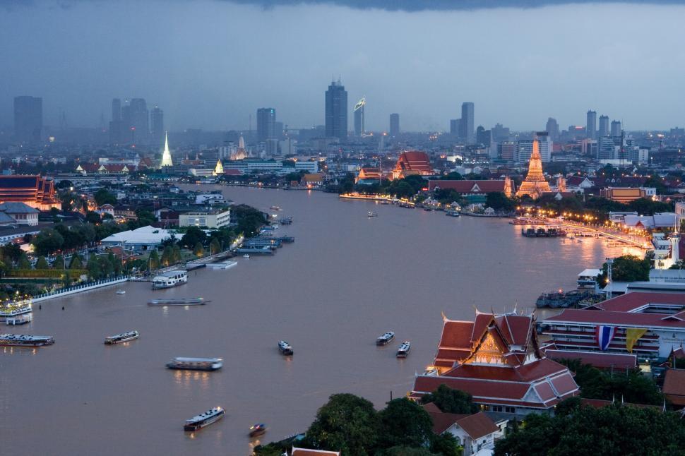 Download Free Stock Photo of Chao Phraya river, Bangkok