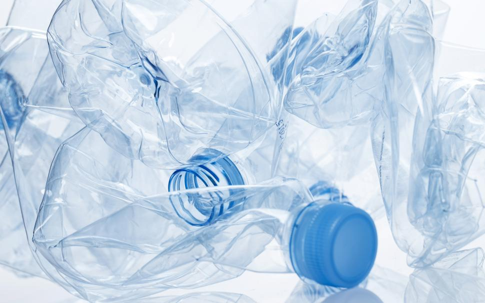 Download Free Stock Photo of Utilization. Empty water bottles crumpled
