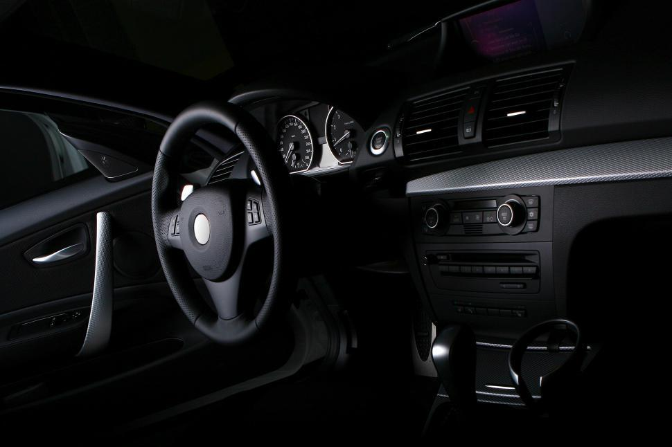 Download Free Stock Photo of interior of new car