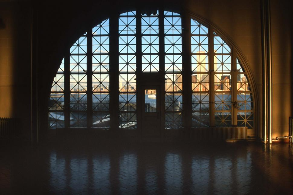Download Free Stock HD Photo of Windows inside Ellis Island Immigration Station Online