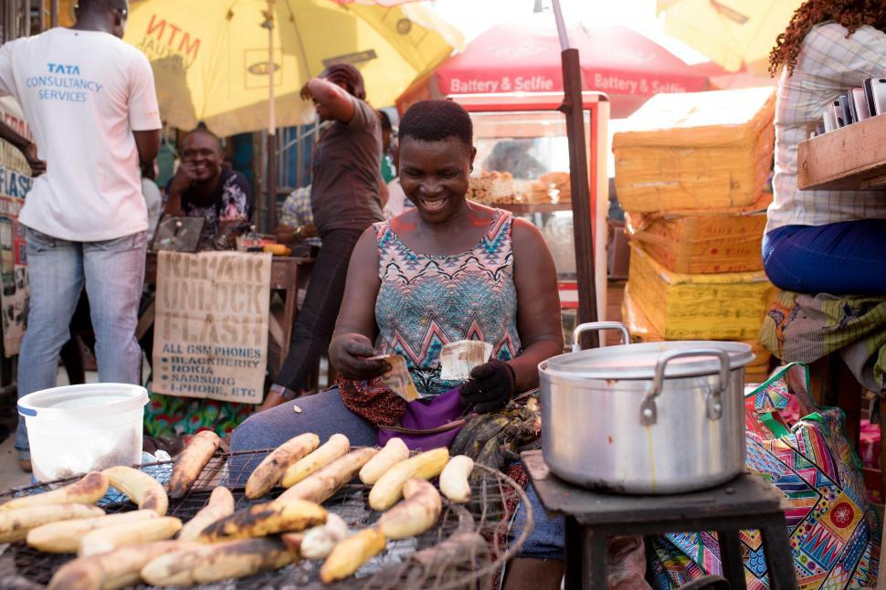 Download Free Stock Photo of People in Nigerian Market