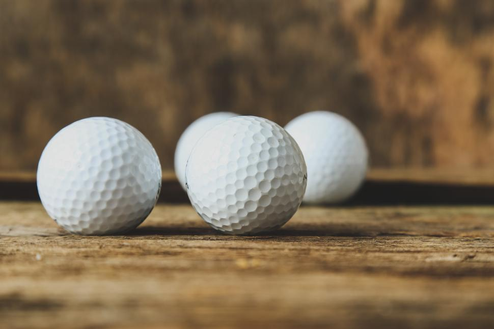 Download Free Stock Photo of Golf balls on the table