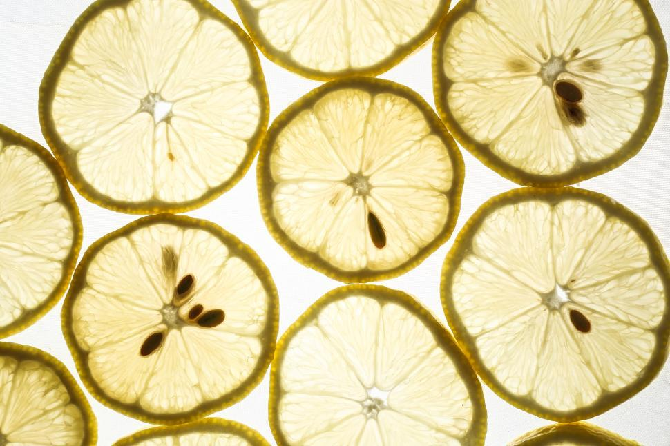 Download Free Stock Photo of Slices of lemon