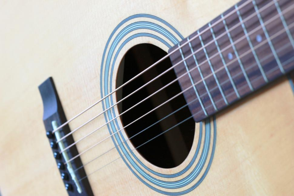 Download Free Stock Photo of Guitar strings close up