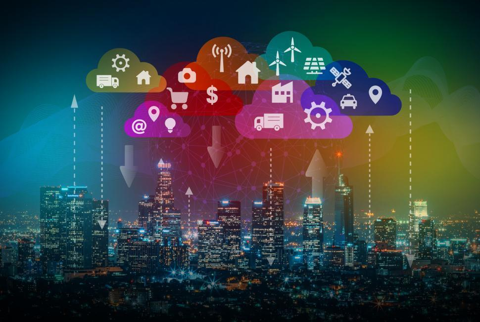 Download Free Stock Photo of Smart City - IoT - Edge Networkd - CDN