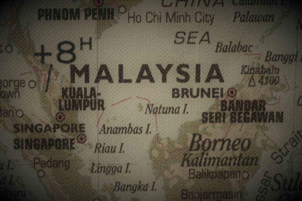 Download Free Stock Photo of Old map of Malaysia