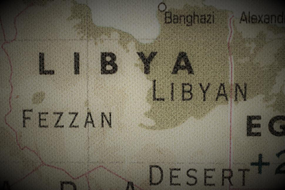 Download Free Stock Photo of Old map of Libya