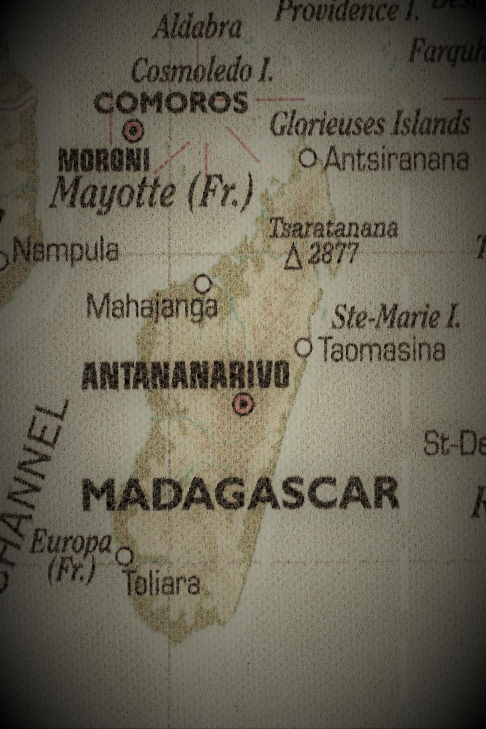 Download Free Stock Photo of Old Map of Madagascar