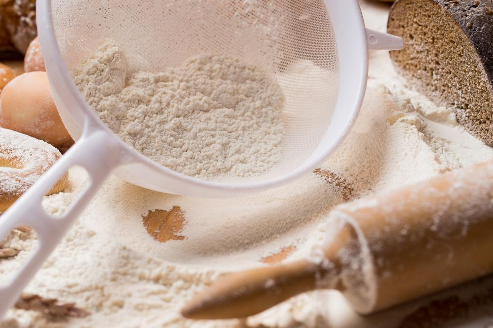 Download Free Stock Photo of Cooking. Bread making ingredients