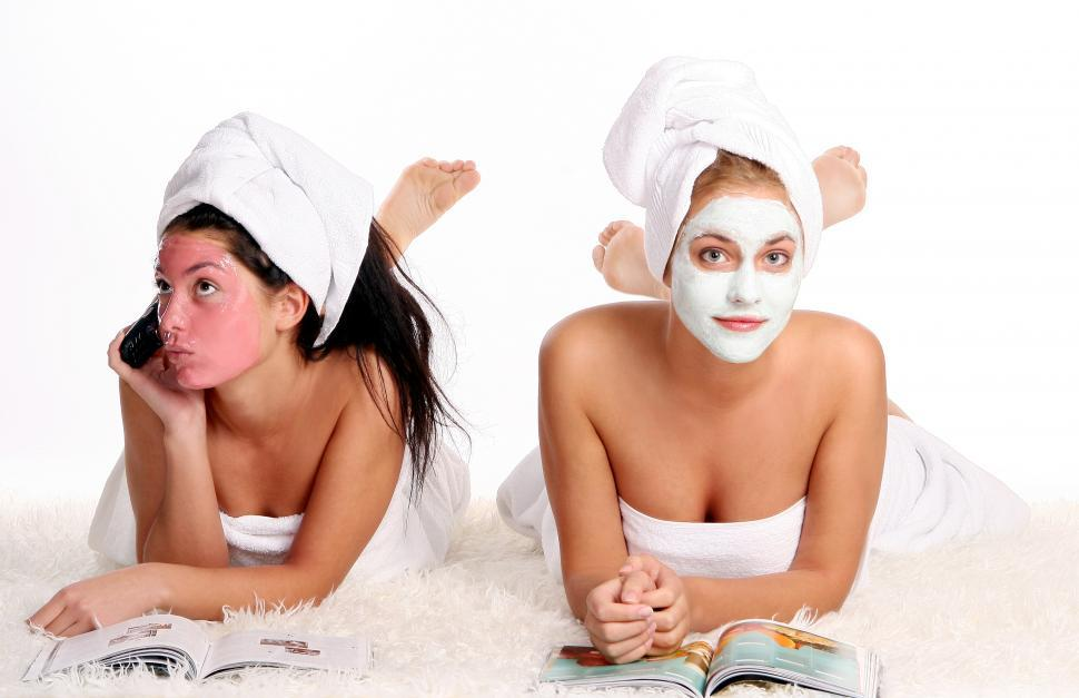 Download Free Stock Photo of Spa day for two ladies