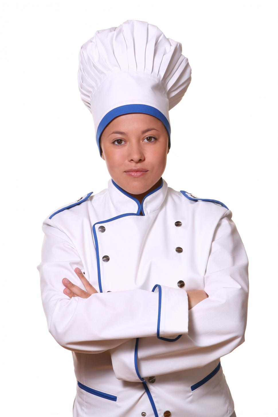 Download Free Stock Photo of Chef standing with arms crossed