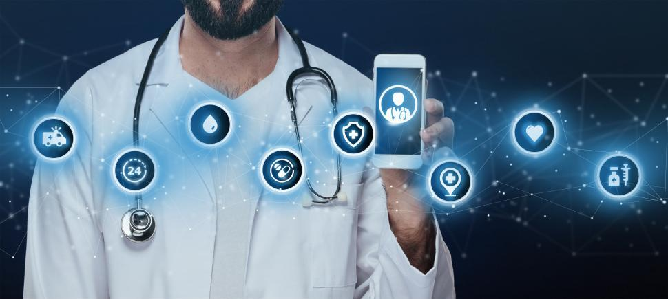 Download Free Stock Photo of Telemedicine Concept - e-Health - Virtual Healthcare - Telehealt