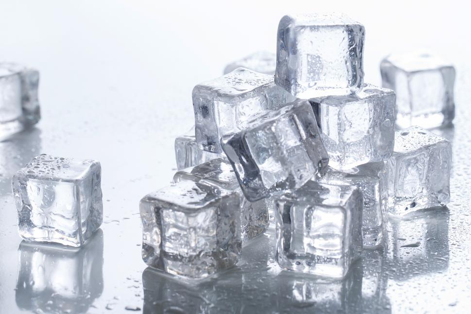 Download Free Stock Photo of Ice cubes on the table