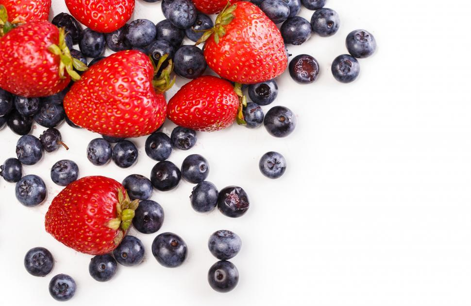 Download Free Stock Photo of Delicious, natural berries with copyspace