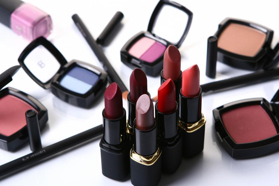 Download Free Stock Photo of Various cosmetics