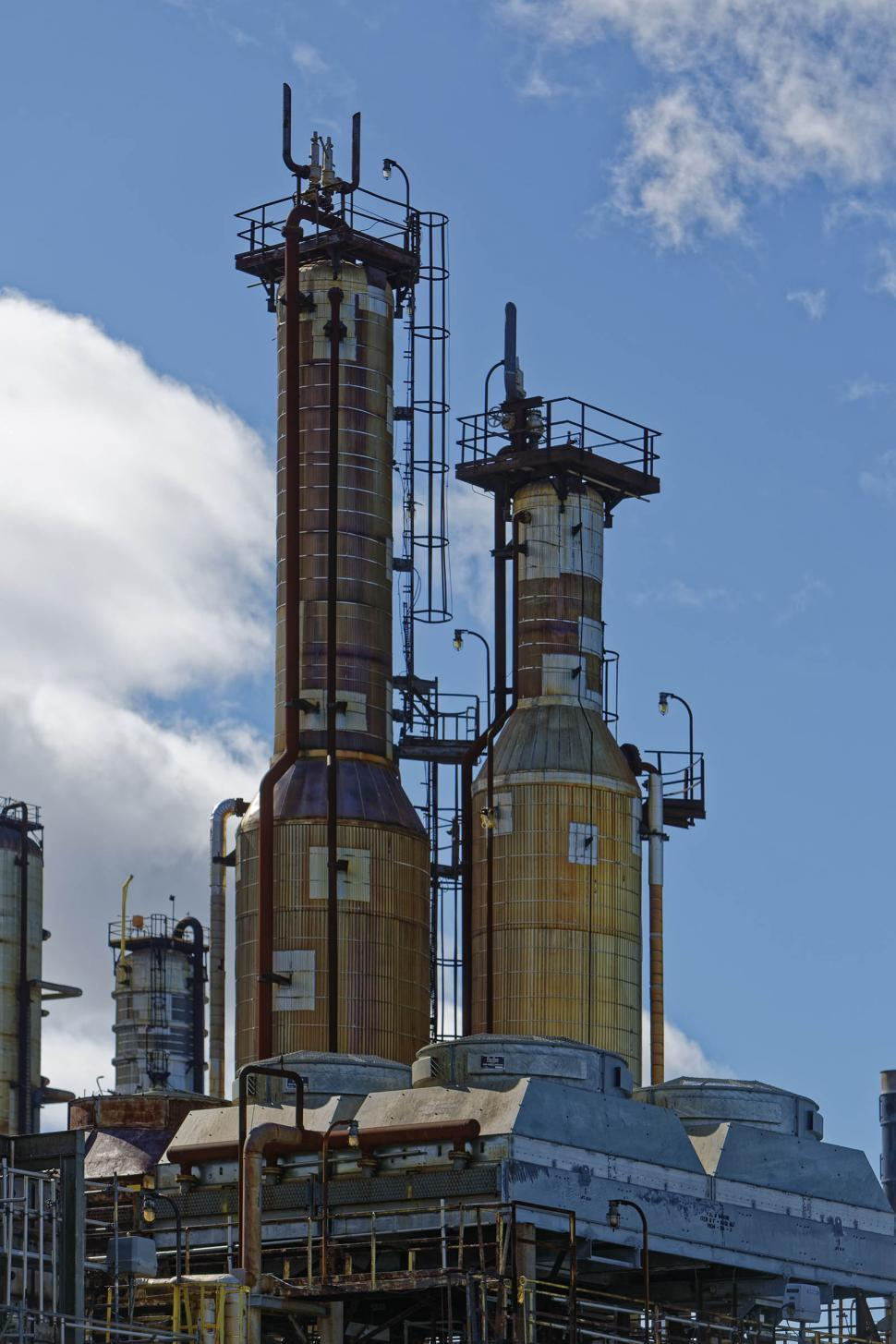Download Free Stock Photo of Two industrial towers