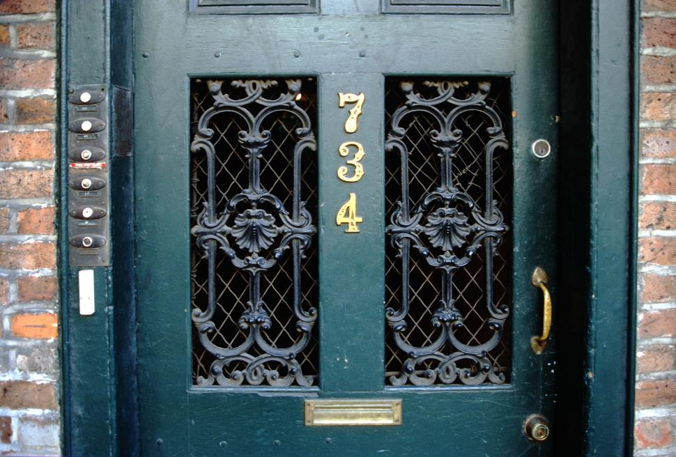 Download Free Stock HD Photo of Old doorway with ironwork Online