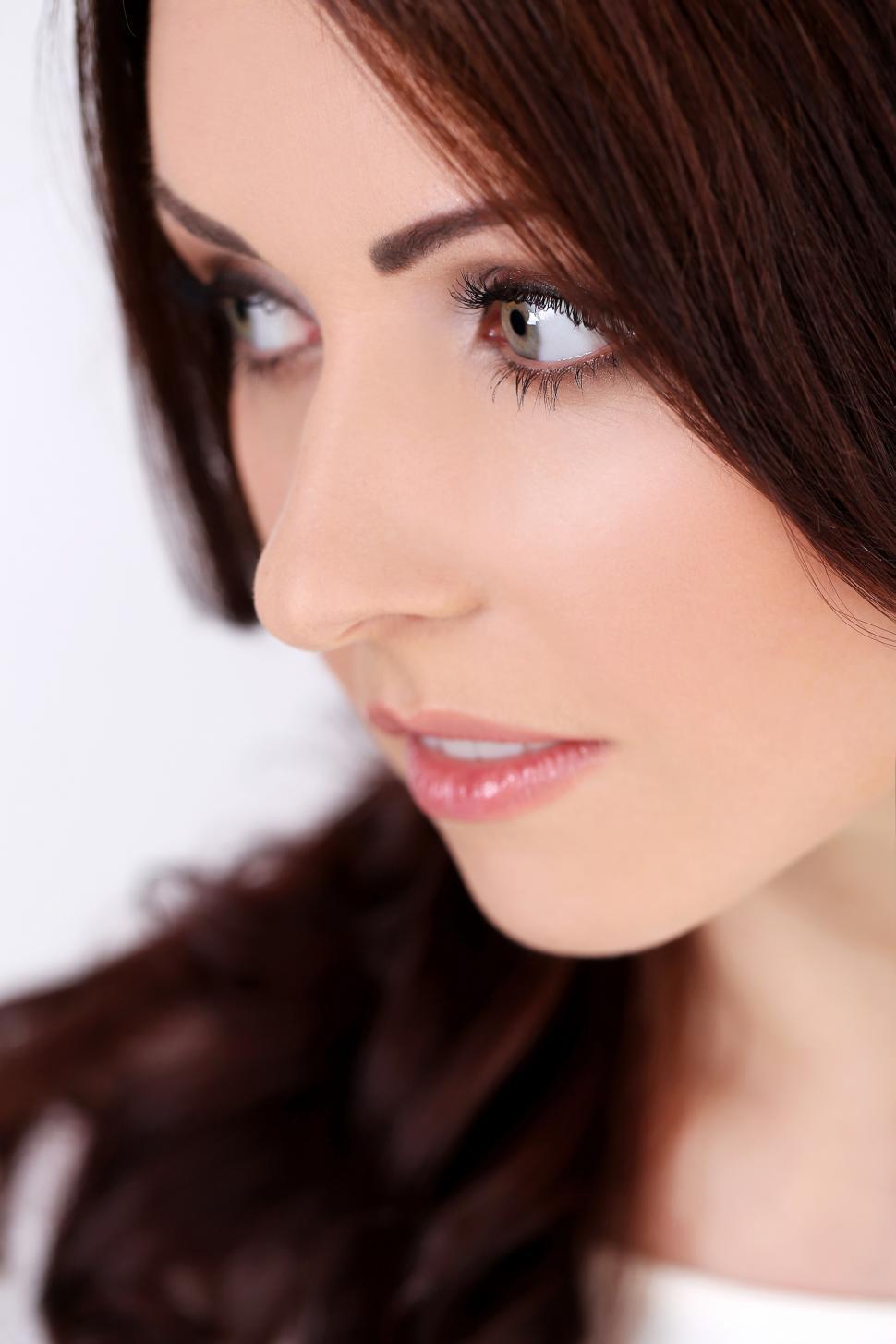 Download Free Stock Photo of Beautiful girl looking away