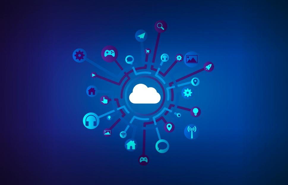 Download Free Stock Photo of Cloud Software - SaaS - Software as a Service