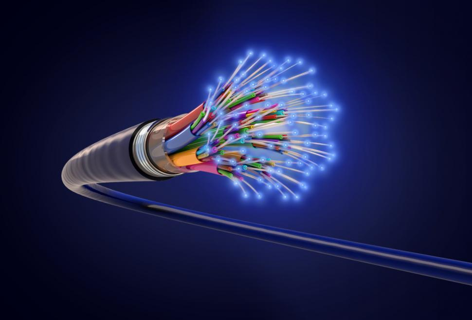 Download Free Stock Photo of Optical Fiber - Fiber-Optic Cable - Information Technology - Ele