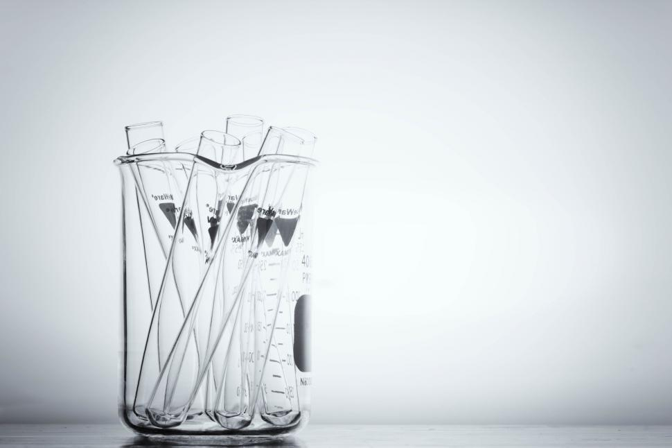 Download Free Stock Photo of Test tubes in a beaker