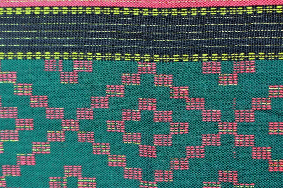 Download Free Stock Photo of Ethnic Pattern Fabric Background