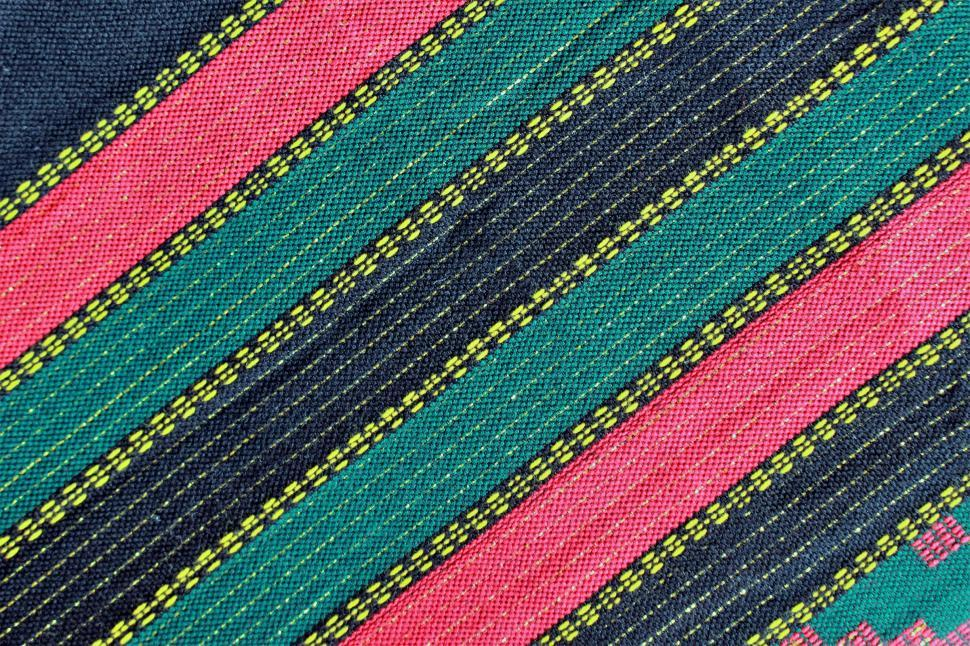 Download Free Stock Photo of Ethnic Pattern Woven Fabric Background