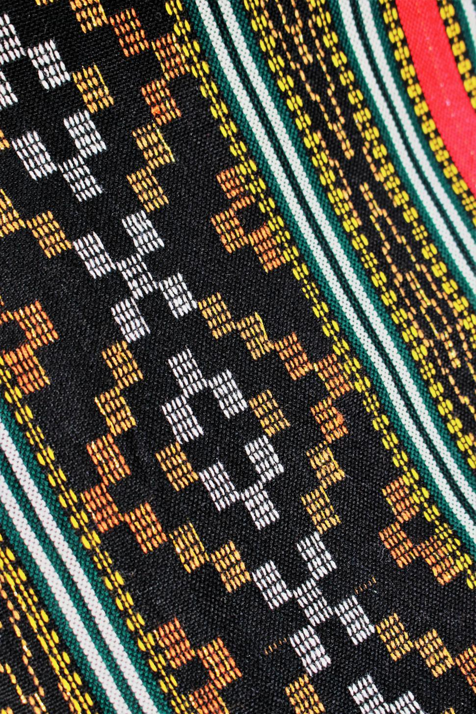 Download Free Stock Photo of Ethnic Pattern Fabric Background Pattern