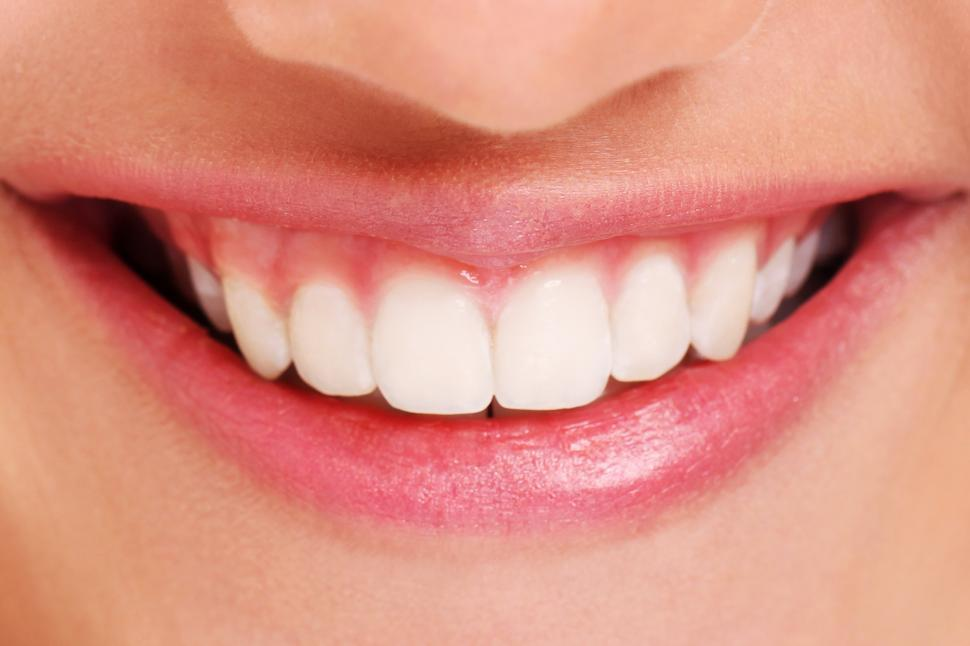 Download Free Stock Photo of Close of of white teeth and big smile