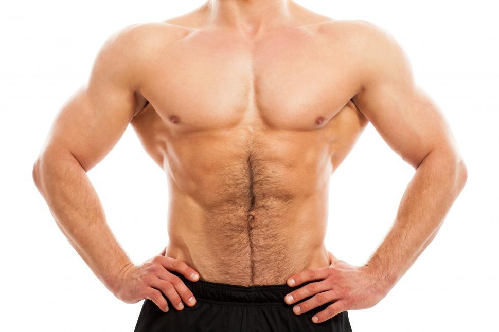 Download Free Stock Photo of Muscular torso of a man