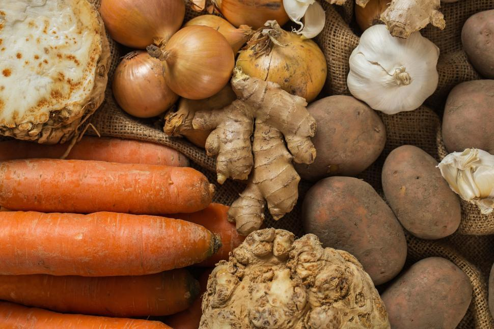 Download Free Stock Photo of Mix of Vegetables laid out for cooking