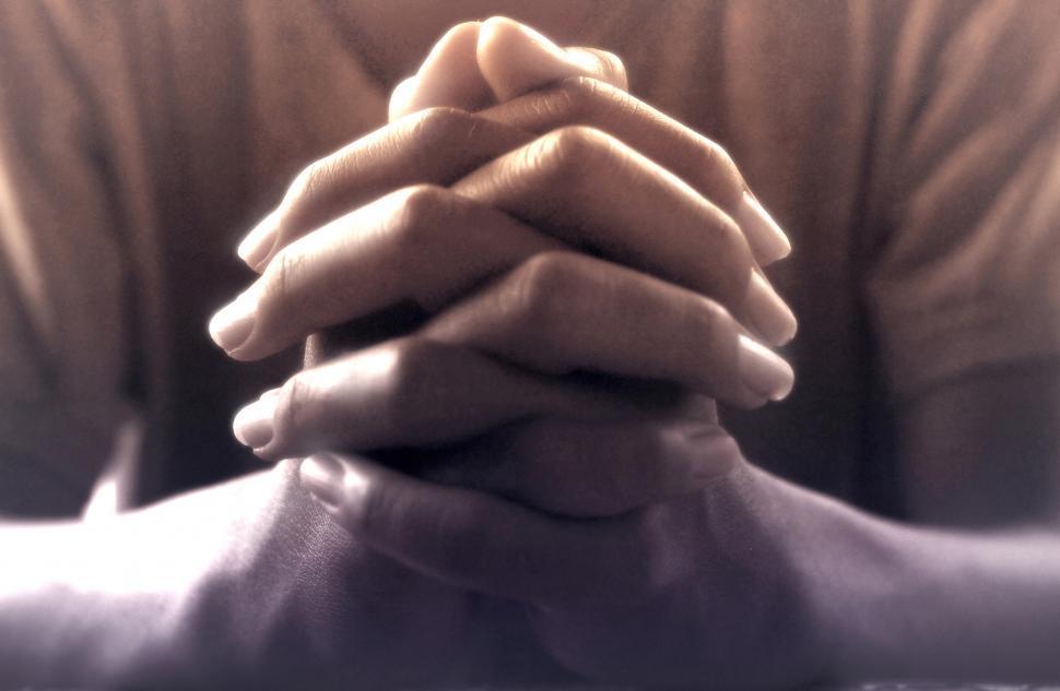 Download Free Stock Photo of Praying Hands - Person Praying - Faith - Prayer