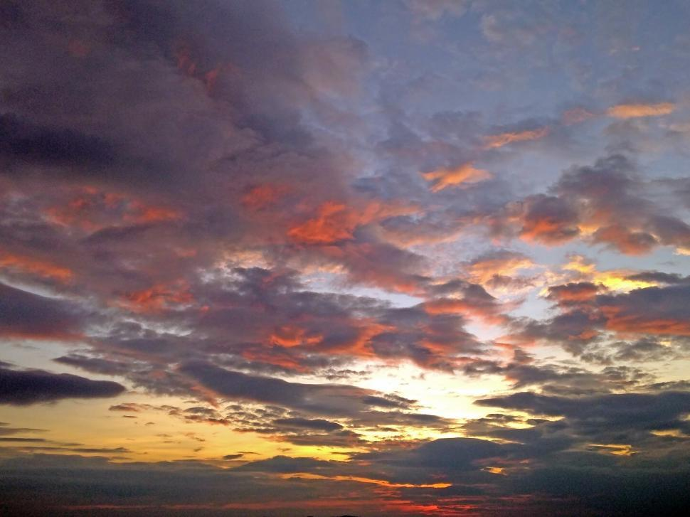 Download Free Stock Photo of Sunset Sky Background