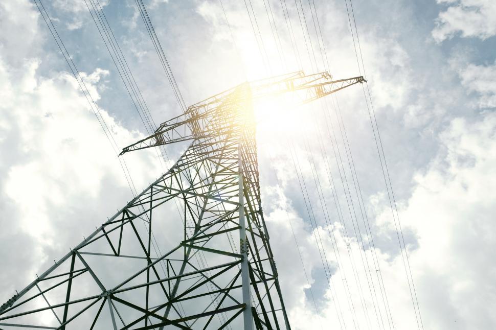 Download Free Stock Photo of High Voltage Pylon Power Line - Pylon