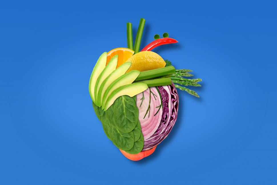 Download Free Stock Photo of Healthy Heart - Health Eating - Fruits and Vegetables