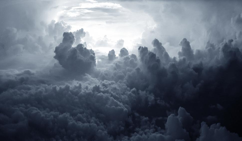 Download Free Stock Photo of Dramatic Cumulonimbus Clouds - Stormy Skies