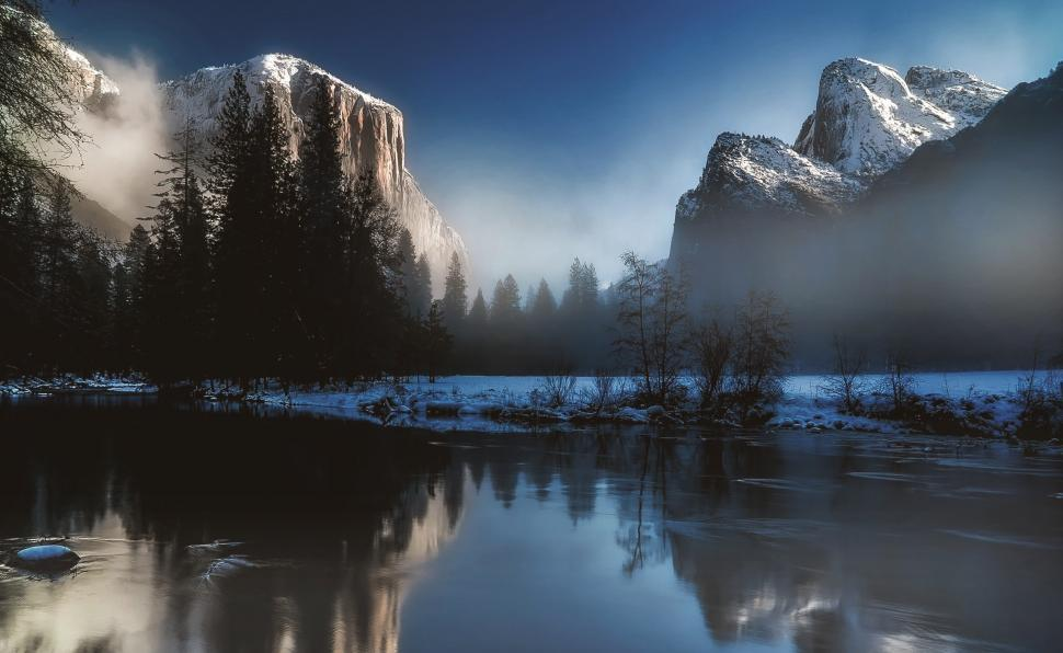 Download Free Stock Photo of Yosemite National Park in Deep Winter