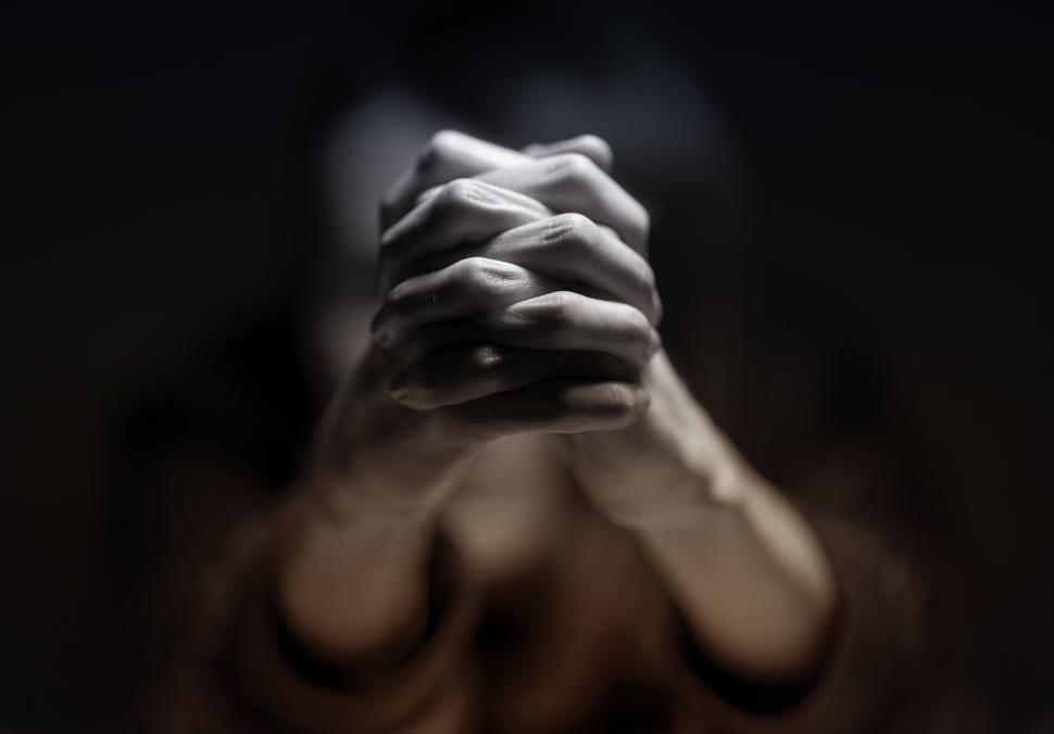 Download Free Stock Photo of Praying Hands - Person Praying - Belief - Faith