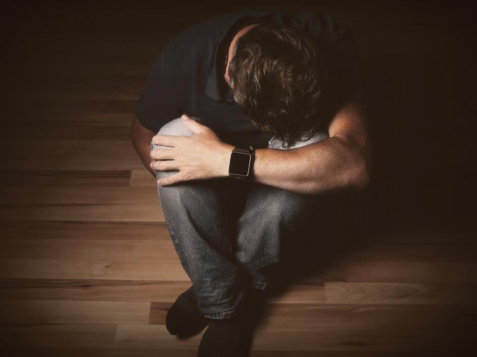 Download Free Stock Photo of Depressed Man - Adult Depression