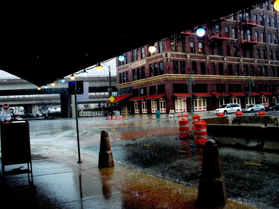 Download Free Stock HD Photo of Milwaukee Downpour Online