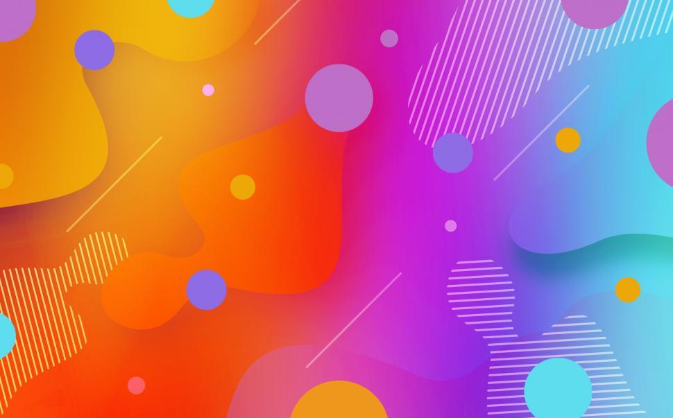 Download Free Stock Photo of Abstract Gradient Splashes  - Colorful Background