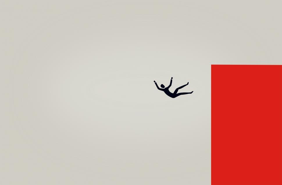 Download Free Stock Photo of Man in Free Fall - Illustration
