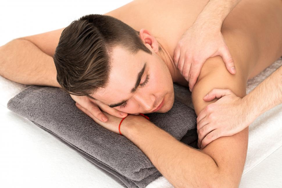 Download Free Stock Photo of Man getting a massage