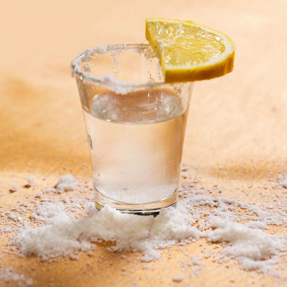 Download Free Stock Photo of Tequila shot with salt
